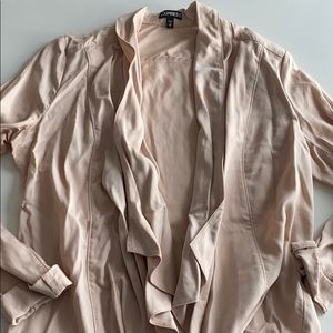 Express Peach Asymmetrical Jacket Size XS
